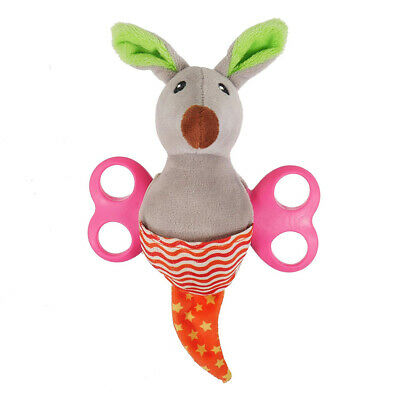 Rosewood Little Nippers Rascal Roo Puppy & Small Dog Squeaky Toy | Treat Plush (Rascal Hund Spielzeug)