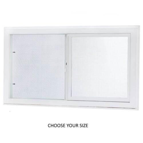Sliding Vinyl Replacement Window w/ Screen Left-Hand Dual Pane, Choose SIZE