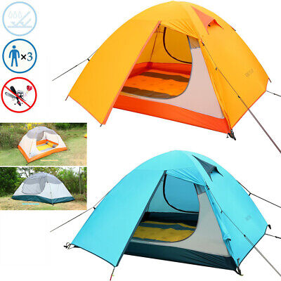 OUTAD 3-Person Outdoor Waterproof Silicone Ultra-light Double Layer Camping Tent