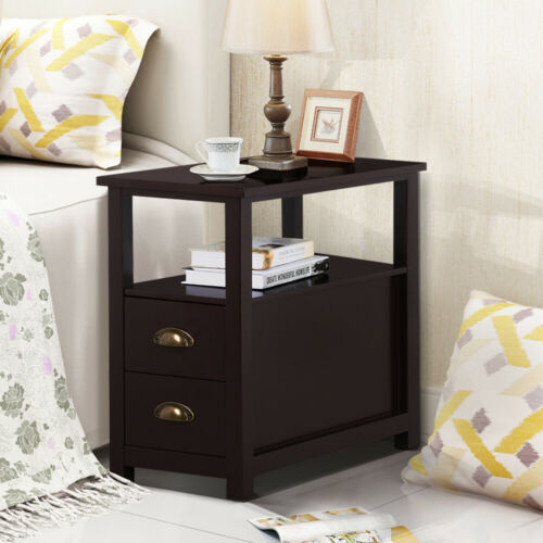 Details about Nightstand Sofa Bed Side Table Bedroom Coffee Chair Stand End  Shelf Living Room