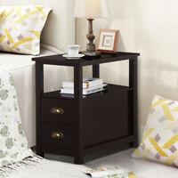 Nightstand Sofa Bed Side Table Bedroom Coffee Chair Stand En