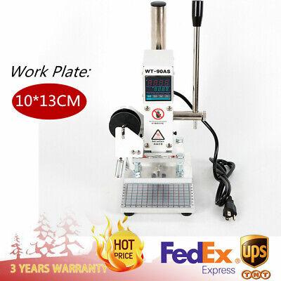 110v 1013cm Digital Display Leather Hot Foil Stamping Embossing Bronzer Machine