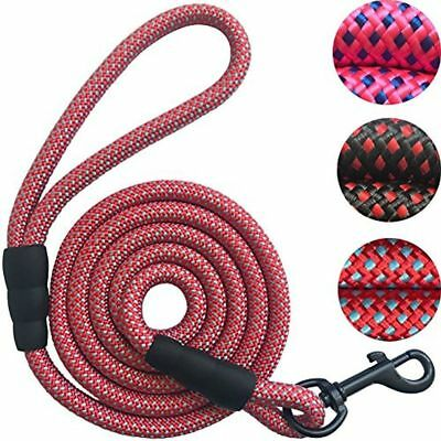 Dog Cat Leash Rope Leash - 2/5 Inch Thick 5 Feet Long - Quality Thick Nylon Rope