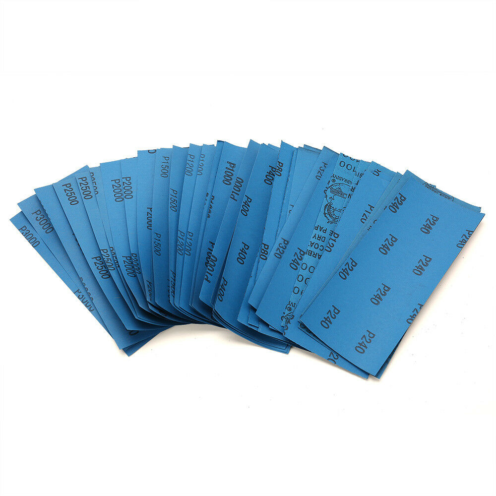 Wet Dry Sandpaper 80 -3000 Grit Assortment 9x3.6'' Abrasive Paper Sheet Sanding 9