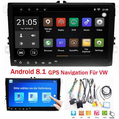 "9"" Android 8.1 Autoradio GPS NAVI BT USB SD Pour VW Passat Golf Polo Caddy POLO"