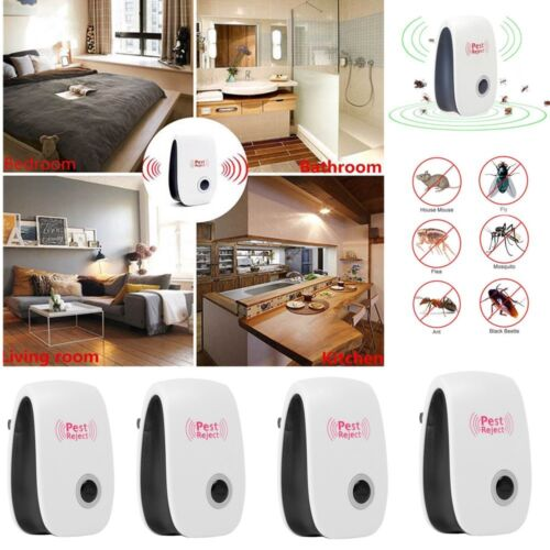 4x Ultrasonic Electronic Anti Mosquito Pest Bug Insect Cockroach Repeller Reject Home & Garden