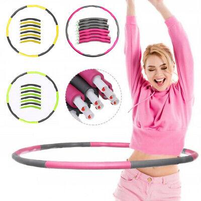 Hula Hoop Fitness Reifen Gymnastik 8-teilig 1,0kg Ø100cm Hüftmassage Schaumstoff
