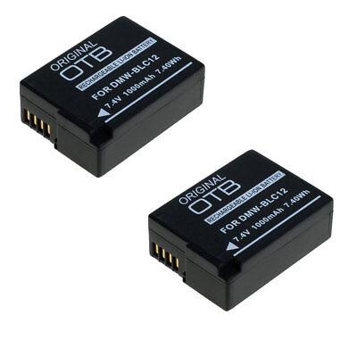 2x Akku für Panasonic Lumix DMC-FZ200 DMC-FZ300 DMC-FZ1000 DMW-BLC12  DMC-G81