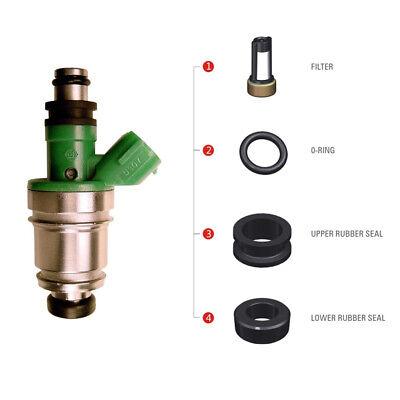 (6 Set Fuel Injector Seal Kit For SUZUKI GRAND VITARA CHEVROLET TRACKER 2.5L V6 )