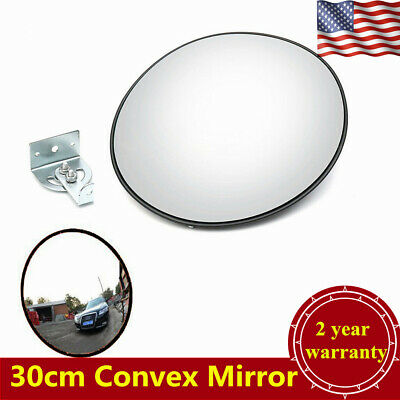 30cm Outdoor Traffic Convex Pc Mirror Wide Angle Driveway Safety Security Usa
