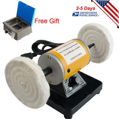 Dental Lab Mini Polishing Machine Lathe Desk Top Polisher Wax Heater Pot Usa