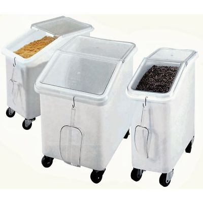 Cambro 27 Gal White Plastic Slant Top Ingredient Bin With Clear Lid - 29 12l X
