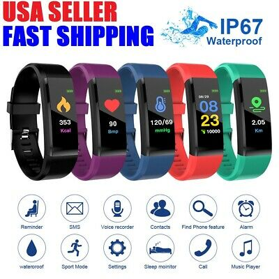 Fitness Smart Watch Activity Tracker Heart Rate For Women Men iPhone iOS Android