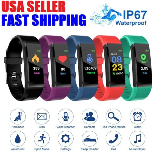 Fitness Smart Watch Activity Tracker Heart Rate For Women Men iPhone iOS Android Activity Trackers