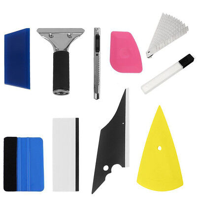 Professional 8in1 Car Window Tinting Film Install Tools Squeegee Scraper Kit Car