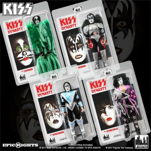 KISS Dynasty 8 Inch Action Figures Series 8 Set of 4