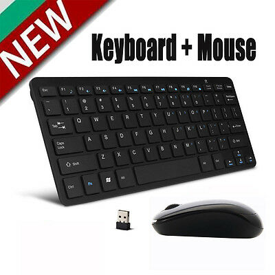 Mini 2.4G DPI Wireless Keyboard and Optical Mouse Combo for Desktop PC BLACK OY