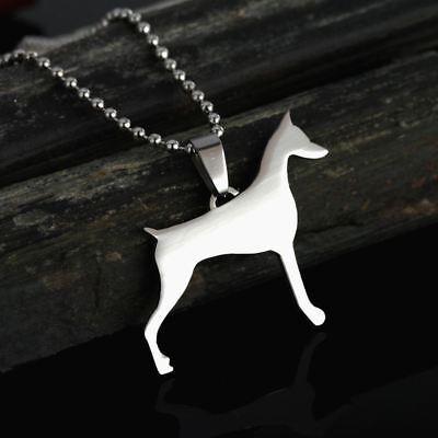 NEW Cropped Ear Doberman Dobie Dobermann Pinscher Dog Pet Charm Pendant (Doberman Pinscher Dog Charm)