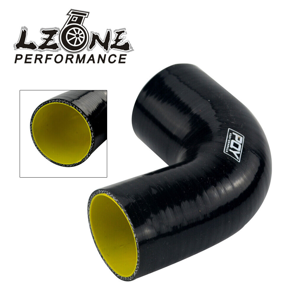 Black Silicone Elbow 90 Degree Bend Hose 63mm