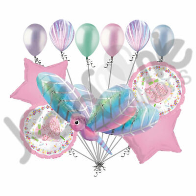 11 pc Dragonfly Balloon Bouquet Decoration Happy Birthday Butterfly Baby Shower](Butterfly Balloon)