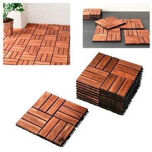 Ikea runnen tarima exterior de madera 9 baldosas terraza for Baldosas de terraza exterior