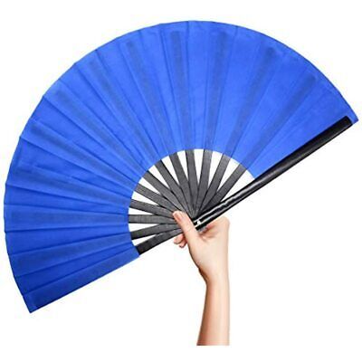 OMyTea Bamboo Kitana Fan - Large Rave Clack Folding Hand Fans Men/Women Chinese