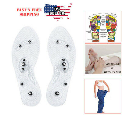 Magnetic Shoe Inserts - Acupressure Massage Shoe Insoles  Magnetic  Odor free Foot Massaging  Inserts