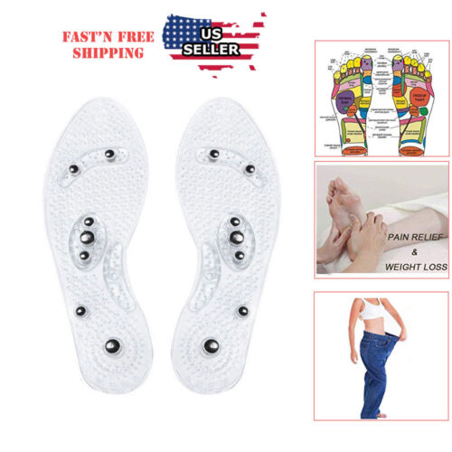 Acupressure Massage Shoe Insoles  Magnetic  Odor free Foot M