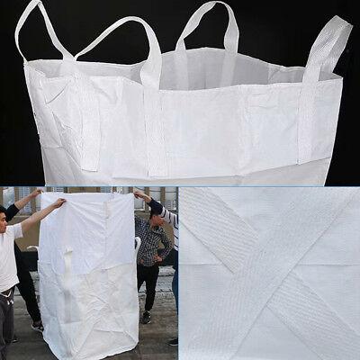 1 Ton Strong Woven Polypropylene FIBC Bulk Bag Sack Duffle Top Flat Bottom