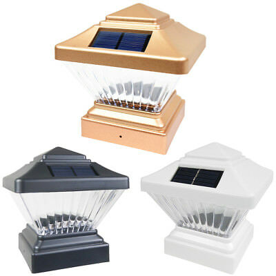 8 Black / Copper / White 4 x 4 Solar Post Deck Cap Fence LED Light PVC Vinyl ()