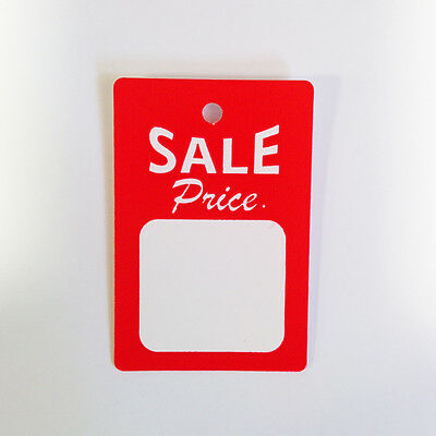 1000 All Purpose Small Red White Sale Price Unstrung Coupon Merchandise Tags