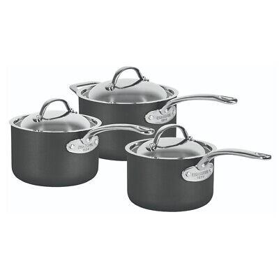 Chasseur Cinq Etoiles Hard Anodised Induction Non Stick 3x Saucepan Cookware Set