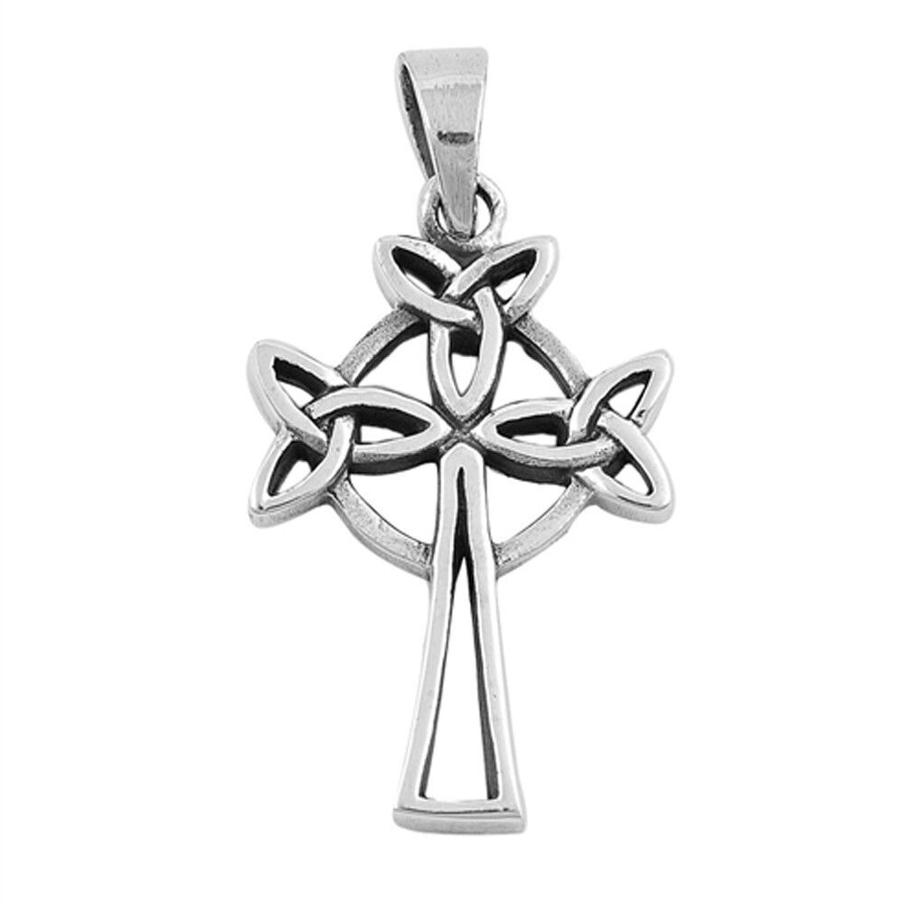 Celtic Cross .925 Sterling Silver Pendant