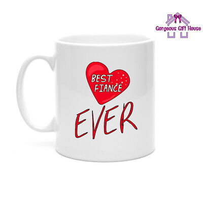 Gifts for Him, Best Fiance Ever Mug, Valentine's Day Gift for
