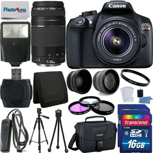 Canon Rebel T6 Digital SLR Camera + 32GB Top Value Bundle +