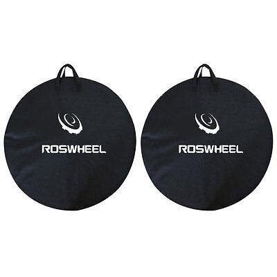 2x1PCS ROSWHEEL Bike Travel Wheel Bag Cycle Bicycle Box Case Luggage Black ()