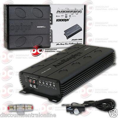 Audiopipe Apmi 1300 1 Channel Mono Block Car Audio Amp Amplifier 1000W Rms