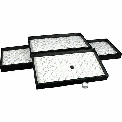 200 Gem Jars White Foam Display Stackable Tray