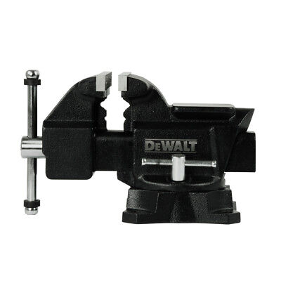 Dewalt 4.5 In. Heavy Duty Workshop Bench Vise With Swivel Base Dxcmwsv4 New