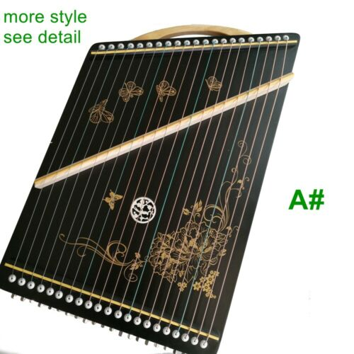 "20.5"" 52cm Chinese zither musical instrument 21-strings practice finger tool"