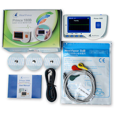 Heal Force Prince 180b Portable Heart Ecg Monitor Include Ecg Wire Electrodes