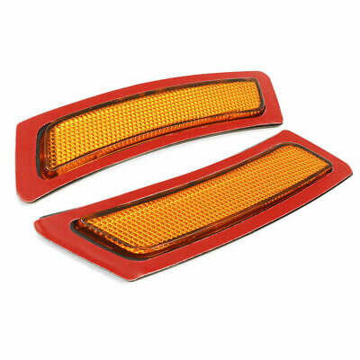 AMBER SIDE MARKER LAMPS FRONT BUMPER REFLECTOR Fit 2011-2016 BMW F10 5-SERIES Amber Front Marker