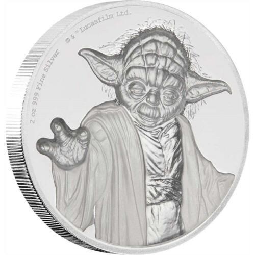 YODA - STAR WARS - 2018 2 oz Ultra High Relief Fine Silver Coin - Niue - NZ Mint