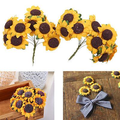 100pcs/lot Fashion Mini Artificial Paper Sunflower for Wedding Party Decor Hot