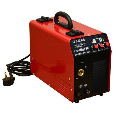 30-180 Amp Inverter Igbt Welder Dc Mig Mag Mma Stick Wire Feed Gasno Gas
