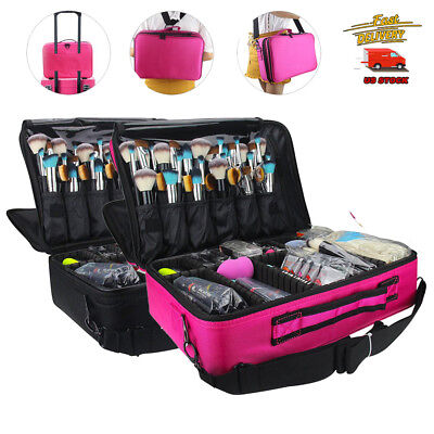 Professional L/M Size Makeup Organizer Cosmetic Bag Large Capacity Make Up Case
