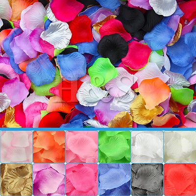 Top Quality Silk Rose Petals Wedding Flower Confetti Party Table Bed Decorations ()