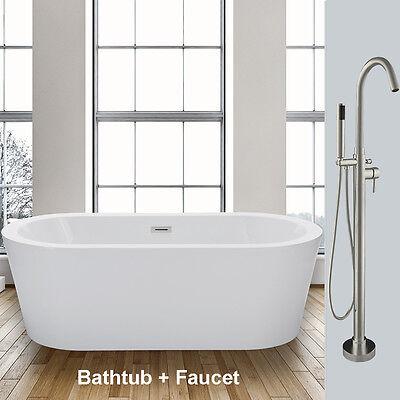 Woodbridge 59''  Freestanding Bathtub B-0012  WITH  free standing Faucet F0001