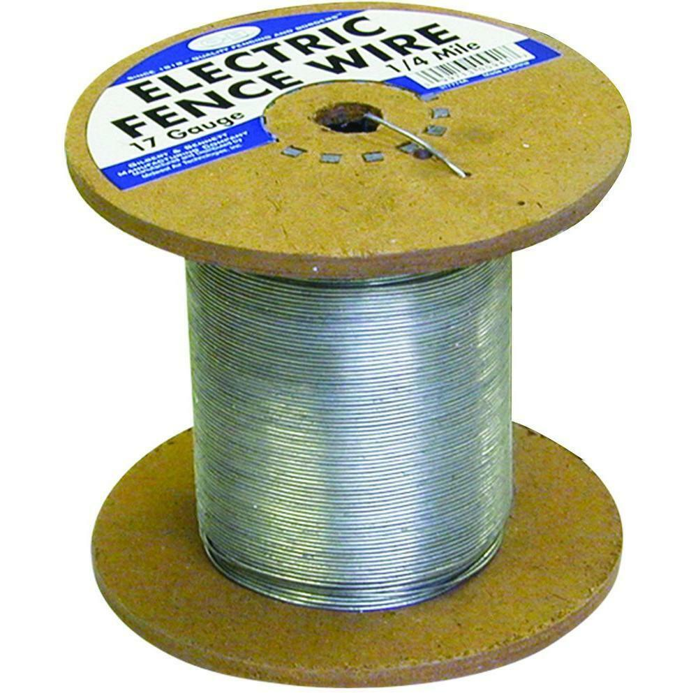 17-Gauge Galvanized Electric Fence Wire 1/4 Mile Industrial