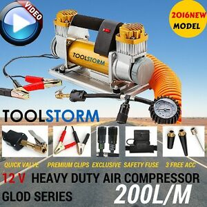 *NEW*12v Car Air Compressor 4x4 Tyre Deflator 4wd Portable  Inflator MAX200L/MIN